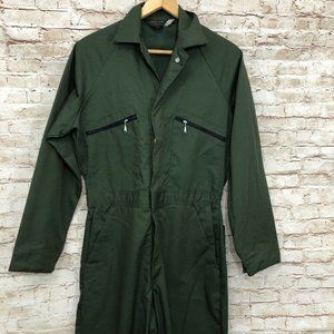 Vintage Sears Tradewear Olive Green Coveralls Mech